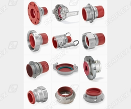 "Stainless steel couplings with PFA coating, type ""...SSE"""